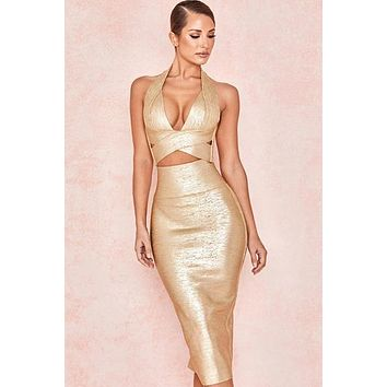 Milly Foil Bandage 2 Piece Set(Ready to ship)