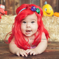 Ariel Inspired Triple Rosette Headband - Dress up, Disney Vacations, Every day Wear, Photography Prop, Party Attire, Birthday