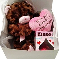Valentine's Day Bundle: I Love You More than Chocolate Teddy Bear Gift Set