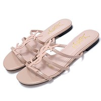 YSL Yves Saint Laurent Hot Sale Ladies Sandals Fashion All-match Slippers Shoes-1