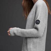 PEAPON Canada Goose Women Fashion Knit Top Sweater Pullover