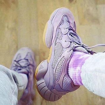 Adidas Yeezy 500 Boost Sneakers Sports Shoes Purple