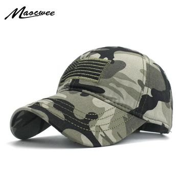 Trendy Winter Jacket American Flag Low Profile Tactical Baseball Hats For Police Law Camouflage Black the Embroidered Cap Cotton Washed Snapback AT_92_12