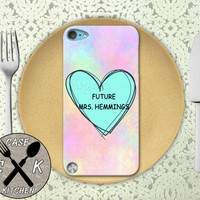 Future Mrs. Hemmings Pink Pastel Tumblr Candy Heart 5sos Custom Rubber Case iPod 5th Generation and Plastic Case For The iPod 4th Generation