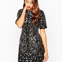 ASOS All Over Embellished Shift Dress