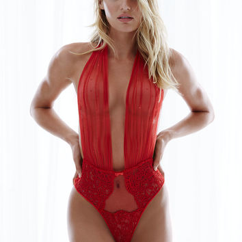 Embellished Tulle & Chantilly Lace Teddy - Designer Collection - Victoria's Secret