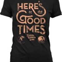 "New! Florida Georgia Line ""Here's To The Good Times"" FGL Juniors T-Shirt"