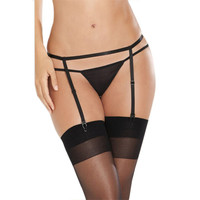 Suspender Garter Belt G-String Thong Set For Stocking