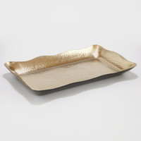 Metal Organic Hammered Tray