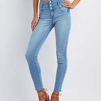 "REFUGE ""HI-WAIST SKINNY"" LIGHT WASH JEANS"