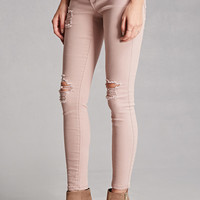 Cello Distressed Low-Rise Jeans