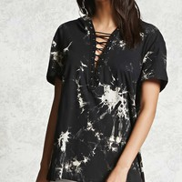 Crystal Wash Strappy Hooded Tee
