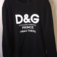 Dolce&Gabbana Fashion Casual Long Sleeve Sport Top Sweater Pullover