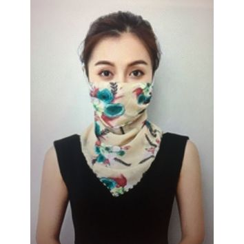 1 Fits All - Peach G Yellow - Face Mask Scarf