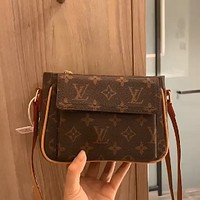 LV Classic Presbyopia Logo Clutch Bag Shoulder Bag Crossbody Bag