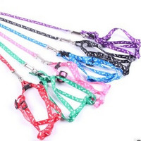 HOT Small Dog Pet Puppy Cat Adjustable Nylon Harness with Lead leash = 1930054660