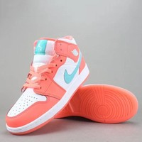 Air Jordan 1 Mid Women Men Fashion Casual Old Skool Low-Top Shoes