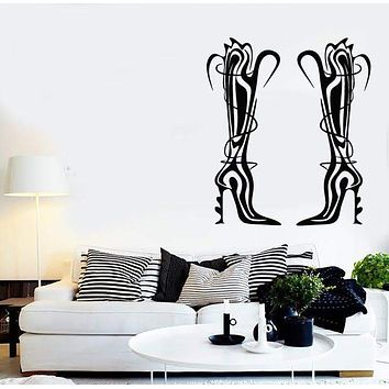 Wall Stickers Vinyl Decal Shoes for Girls Shopping Fashion Stylish Unique Gift (ig1881)