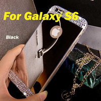 Galaxy S5 Ultra thin Bling Diamond Crystal MirrorSoft Back Cover Case For Samsung Galaxy S5 S3 S4 S6
