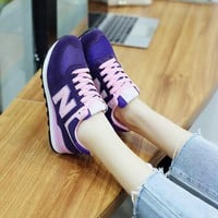 new balance fashion casual n words breathable women sneakers running shoes  2