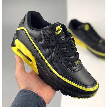 Undefeated x Nike Air Max 90 Five Bars Joint Half Palm Air Cushion Retro Casual Running Shoes