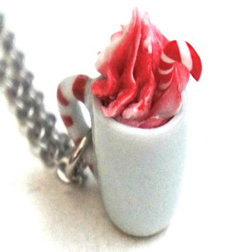Candy Cane White Hot Chocolate Necklace