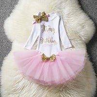 Baby girl outfits Princes dress headband Christmas Christening Gown born Clothing