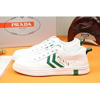 prada men fashion boots fashionable casual leather breathable sneakers running shoes 77