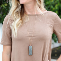 Right Time Necklace - Grey