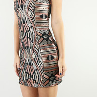 Crystal Vision Sequined Sleeveless Bodycon Dress