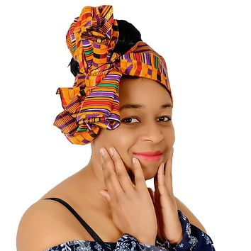 "Extra Long 72""×22"" Headwrap ANKARA Dashiki African Print Head Wraps/Scarfs for Women"