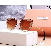 MIUMIU 2019 new fashion large frame color film polarized sunglasses #3