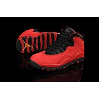 Air Jordan 10 GS Fusion Red Women Men Basketball Shoes Size US 5.5-13