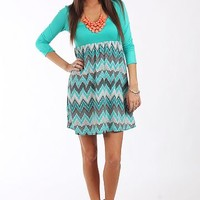 Up And Down Dress, Mint