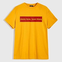 Fashion Casual Men Slogan Graphic Tee