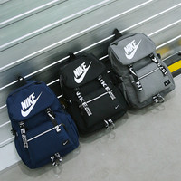 "x1love : ""Nike"" Sport Hiking Backpack College School Travel Bag Day pack number White"