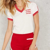CAMP Collection Roller Girl Contrast Shorts - Red