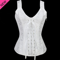 White Sleeveless Racer Back Corset