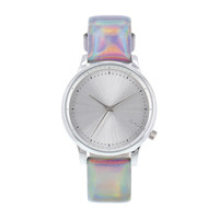 Estelle Iridescent Silver Watch