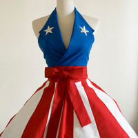 Made to Order- Captain America USO Girl Apron