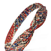 Abstract Floral Knotted Headwrap