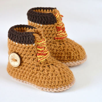 Crochet PATTERN boots for baby boys