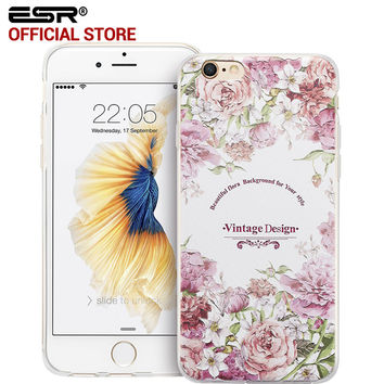 """ESR Fashion Woman Girl Case Clear Soft Silicone Secret Garden Cover for iPhone 6/iPhone 6s 4.7"""""""