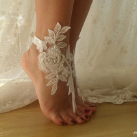 beach wedding,ivory lace,bridal shoes