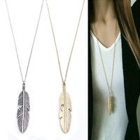 Classic Feather Long Necklace