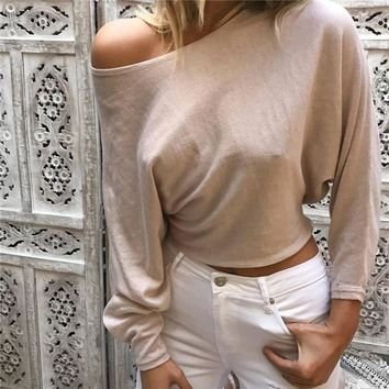 Round-neck Long Sleeve Sweater Hot Sale Women's Fashion Tops Needles [11853605135]