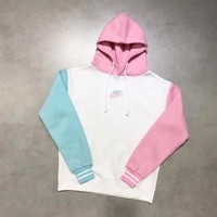 DCCKFC8 Nike limited edition Ice cream Color Splicing Hoodie Top Sweater Pullover