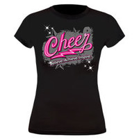 Available for Sale Cheer Believe Acheive Inspire Fitted Black Jersey Cheerleading T-Shirt