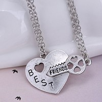Best Friends 2 Pairs Matching Fashion Necklaces