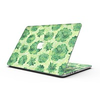 Green Floral Succulents - MacBook Pro with Retina Display Full-Coverage Skin Kit